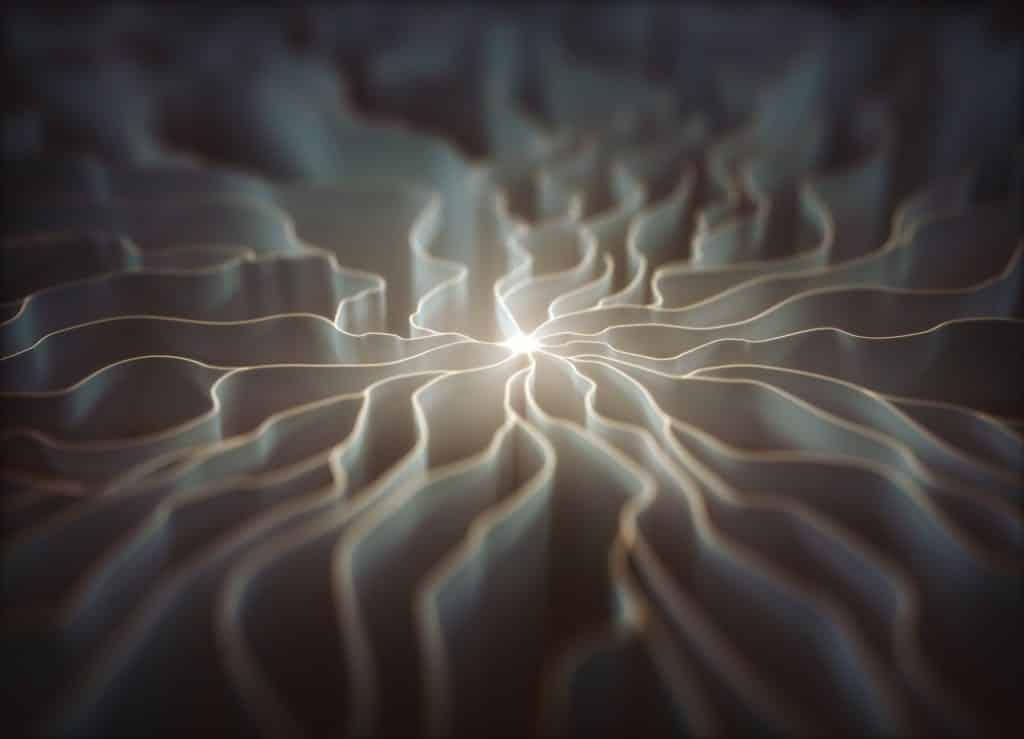 Consciousness emanating from a neuron.